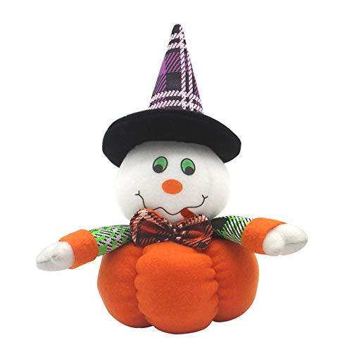 (Bolange Halloween Dekoration Puppe Puppe niedliche Tuch Hexe Schwarze Katze Serie Halloween Dekoration - Ghost)