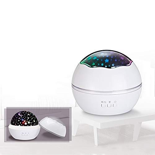 Gaddrt Projektor Licht Stern-Nachtlicht-Universum-LED-Projektor-Schreibtisch-sternenlampe für Kindergeschenke (White)