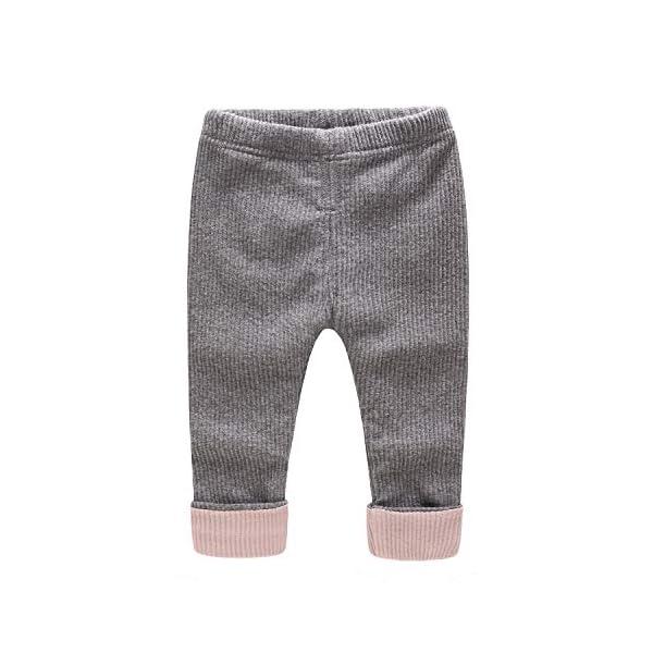 Bebé Pantalones Invierno Leggings Niños Niñas Polainas Vellón Jogging Casual Pantalón 1