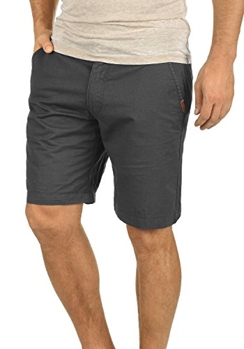 !Solid Thement Herren Chino Shorts Bermuda Kurze Hose aus 100% Baumwolle Regular Fit, Größe:L, Farbe:Dark Grey (2890)