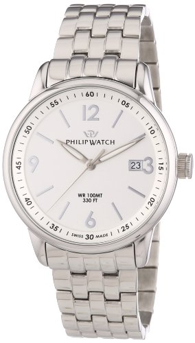 Philip Watch Herren-Armbanduhr Kent Analog Quarz Edelstahl R8253178005