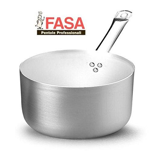 Casseruola Alta un manico professionale della FASA diametro 20cm in alluminio puro 99.5% MADE IN ITALY