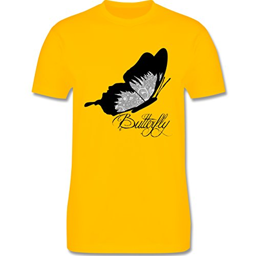 Statement Shirts - Butterfly Schmetterling - Herren Premium T-Shirt Gelb