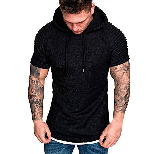 Fu-camo-t-shirt (Dwevkeful Freizeithemd Slim Fit Herren Rundhals-Ausschnitt Classic Lightweight Regular Fit Einfarbig Gestreift Hoodie-Sweatshirt Sommer Freizeit Stylisch Business)