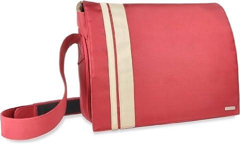 Speedlink SL-6058-RDBG Courier Messenger Notebooktasche 46,7 cm (18,4 Zoll) rot/beige