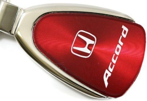 dantegts Honda Accord lágrima llavero Authentic Logo Llavero Llavero Lanyard, rosso