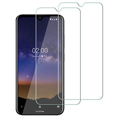 Aerku für Nokia 2.2 Panzerglas,9H Härte HD Schutzfolie Anti-Kratzer Ultra Glatte Film Bildschirmschutzfolie Blasenfreie Panzerglasfolie für Nokia 2.2 [2Stück]-Transparent