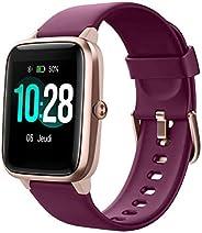 YAMAY Smartwatch Orologio Fitness Donna Uomo Smart Watch Android iOS Contapassi Cardiofrequenzimetro da Polso