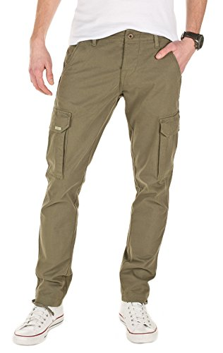 Yazubi Uomo Cargo Chino Jan, military green (201601), W31/L32