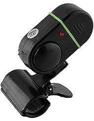 JWBOSS Lumière LED Alarme de pêche Électronique Poisson Alerte sonore Alarme sonore Bite Strike Pole Tool Tackle Black N