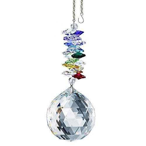 Crystalplace cristallo ornamento 11,4cm finestra suncatcher trasparente sfaccettato ball prism rainbow maker crystal cascata realizzati con cristalli swarovski