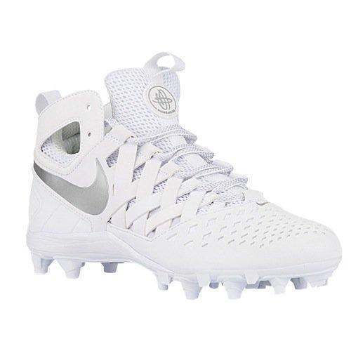 quality design 86eb9 44f4a Nike Men s Huarache V Lax Lacrosse Cleats (13 M US, White Metallic Silver