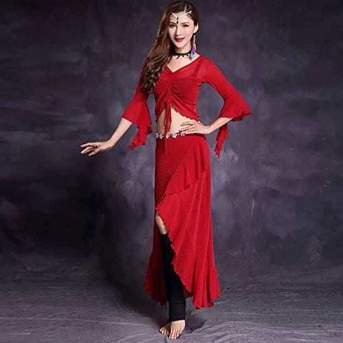 Indische TanzKostüm Und Zubehör - XGWD Damen Bauchtanz-Komplet Tanzkostüme Indische Zubehör