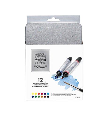 Winsor & newton watercolor marker confezione da 12 pennarelli assortiti
