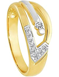 Diamond Line Damen - Ring 333er Gold 9 Diamant ca. 0,12 ct., gelbgold