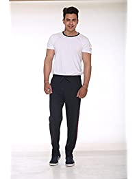 CUPID 2 Striped Stylish Track Pants / Sports Trousers / Cotton Lowers / Joggers / Night Pant (Regular Fit, BLACK...