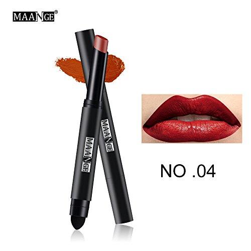 Lipgloss,Rabatt,PorLous 2019 Beliebt Langlebiger Lippenstift Wasserdichter Matt Lipgloss Lip Liner Cosmetics Feuchtigkeitsspendend 4