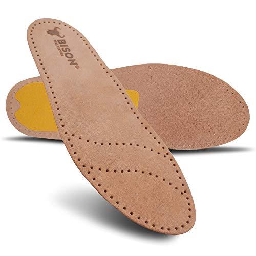MAROL Echt Leder Einlegesohlen Schuheinlage Ledersohlen Geklebt / 1 Paar/Größe 36-46 (44)