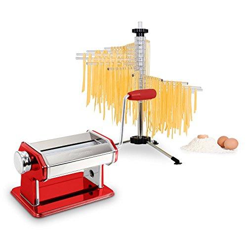 Klarstein Pasta Set Siena Pasta Maker rot & Verona Pasta Trockner