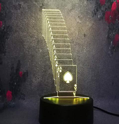 ZJFHL 3D Optische Illusions-Lampen LED Karte 7 Farben Touch-Schalter Ändern Nachtlicht Für Schlafzimmer Home Decoration Hochzeit Geburtstag Weihnachten Valentine Geschenk (Valentine Karten Star Wars)