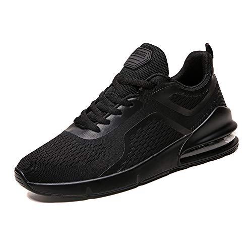 Azooken Herren Damen Laufschuhe Sneaker Straßenlaufschuhe Sportschuhe Turnschuhe Outdoor Leichtgewichts Freizeit Atmungsaktive Fitness Schuhe(1828 AllBK45)
