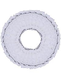 nbeads 100 pcs bolsas de Organza boda Favor bolsas joyería muestras pantalla bolsas bolsas de regalo cordón, blanco, 10 x 12 cm