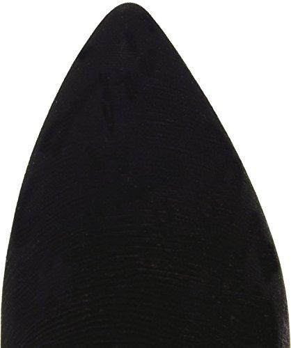 Bams Femmes Bottes à talons velours Sequin Noir Noir