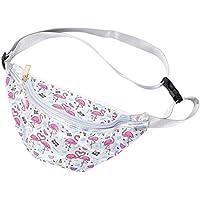 TENDYCOCO Bolsa de PVC Transparente para Mujer Deportes con Bolsa Multifuncional en el Pecho Bolsa Exterior (Flamingo)