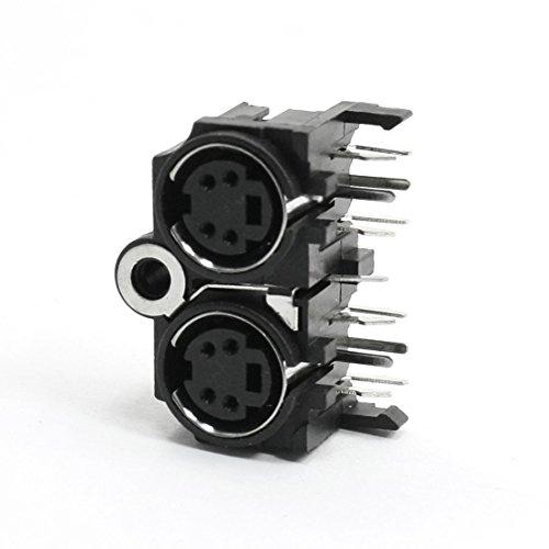 Leiterplattenmontage 4 Pin DIN S-Video Mini Dual-Buchse Anschluss Steckverbinder - Dual S-video