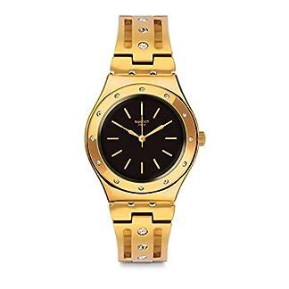 Swatch Reloj Analogico para Unisex de Cuarzo con Correa en Acero Inoxidable YLG135G