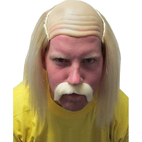 Costume Agent Hulk Hogan Hulkamania Wrestling Maniac Kostüm Perücke