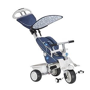 SMARTRIKE Inteligente Trike 191-2700 Triciclo reclinable / Cochecito 4-en-1 Azul / Blanco