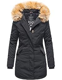 Marikoo Damen Winter Jacke Parka Mantel Winterjacke warm gefüttert B362