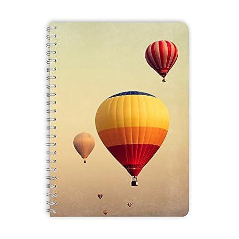 purepaper Notizblock | Notizbuch | Spiralblock 1003 BALLOON, DIN A5 60 Blatt blanko