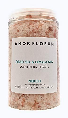 SALE ROSA DELL HIMALAYA E DEL MAR MORTO per il BAGNO NEROLI 400 g di AMOR FLORUM Infuso con oli terapeutici per idratare la pelle e portare un senso