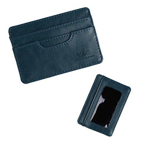 ycm0401Herren Geschenk 5Kredit/ID Fall Halter Wallet-erhältlich 6Farben von Y & G, Blau, YCM040107