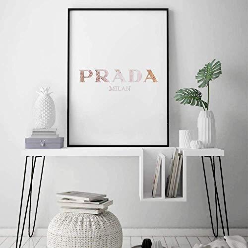Prada Poster, Druck, Zeichen, Wandkunst, Wandbild, Wandkunst rosa, Pastell Zitat, Mailand, Marfa, Prada Kunst, Kunst für Schlafzimmer, Mädchen Zimmer, Mode-Zitat -