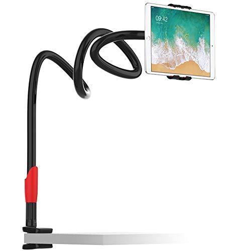 EasyAcc 360 Drehen Handyhalter Tablet Ständer Schwanenhals Halterung Smartphones Halter Tablet Halterung Handy Einer Länge von 1 Meter Für Smartphones iPhone XS max xr Galaxy S9 Ipads (Schwarz/Rot)