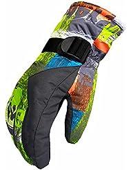 Longless Guantes de esquí hombres/mujeres/parejas ciclismo anorak plus engrosamiento de terciopelo exterior caliente fría montañismo dedo guantes