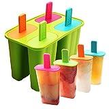 DEHUB Eisformen Silikon, 4 Popsicle Formen Set,BPA Frei EIS am stiel Formen...
