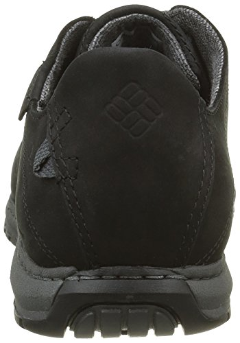 Columbia Davenport Waterproof, Chaussures à Lacets Homme Noir (Black/Dark Fog 010)