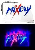 Mixery Bier Leuchtschild Werbeschild Werbetafel Leuchtreklame LED Beleuchtet mit Netzteil Bar Gastronomie - ca. 30 x 21,5cm