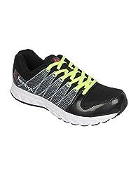 Reebok Mens Cool Traction Black and Grey Running Shoes - 10 UK/India (44.5 EU)(11 US)