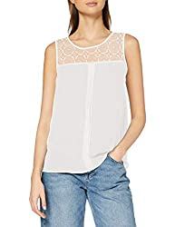 ONLY Damen onlVENICE S/L LACE NOOS WVN Top, Weiß (Cloud Dancer), 36