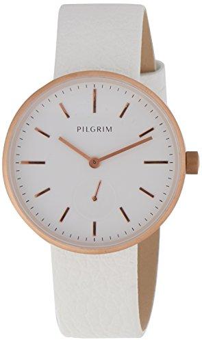 Pilgrim Damen-Armbanduhr Analog Quarz Leder 701614040