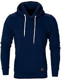 ITISME HOMME TOP Sweat-Shirt Chaud Manche Longue Automne Hiver Sweat-Shirt à Capuche Décontracté Casual Survêtements Grande Taille Tops Outwear Blouse Sweat Chic M-5XL