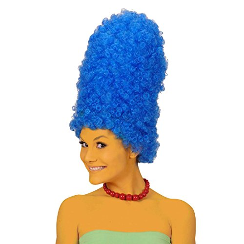 NET TOYS Blaue Perücke Marge Simpson Faschingsperücke Simsons (Marge Simpson Kostüm Haar)