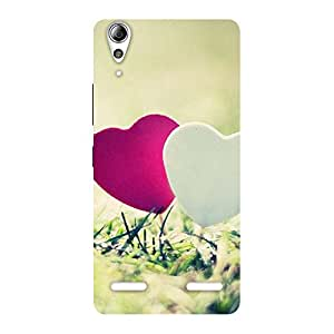 Gorgeous Couple Heart Back Case Cover for Lenovo A6000 Plus