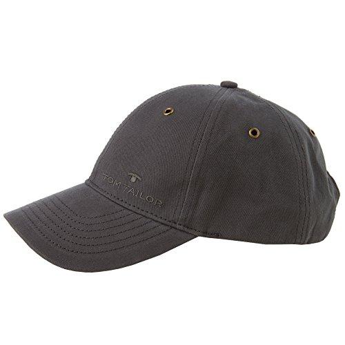 TOM TAILOR unisex, für Frauen Gürtel & Riemen Baseball-Cap mit Stickerei anthra, OneSize