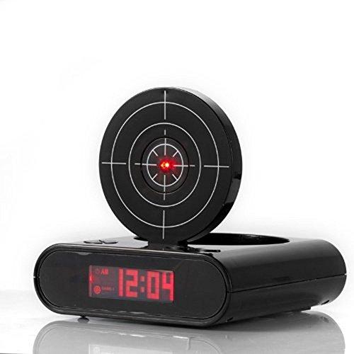 Gun Wecker Gun Clock Alarm Clock Digital Wecker Gaming Clock Uhr Schwarz Gute Idee für Weihnachtsgeschenke - 3